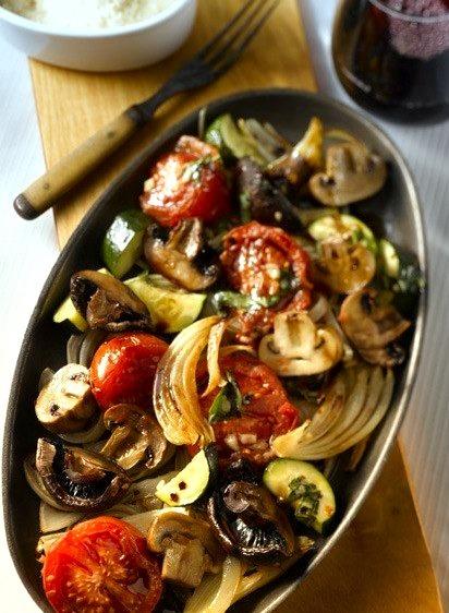 Oven Roasted Mushroom and Vegetable Salad (x)