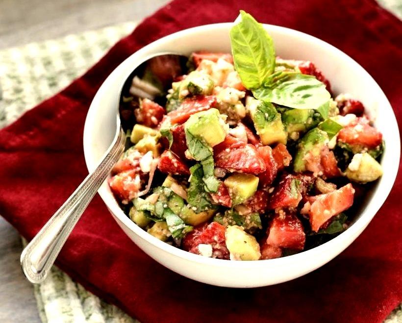 Strawberry, Avocado, And Feta Salsastrawberry, Avocado, & Feta Salsa