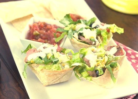 Steak Taco Salad Bowls