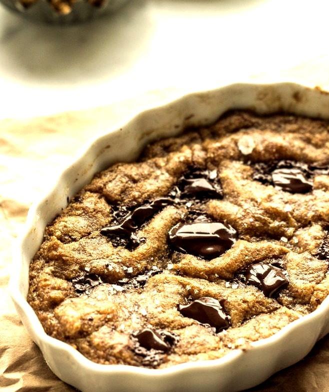 Recipe: Deep-Dish, Single-Lady, Salted Whole Wheat Vegan Chocolate Chip Cookie