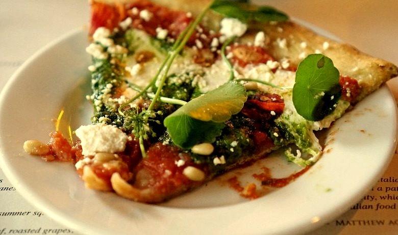 Nasturtium Pesto Pizza