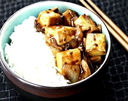 Stir Fried Tofu And Shiitake Mushrooms