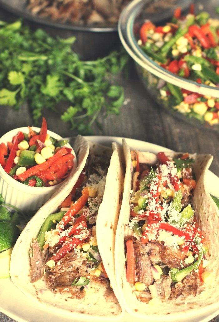 Carnitas with Bell Pepper Slaw