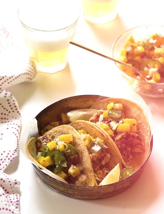 Grilled Shrimp Tacos with Mango Salsa @ A Cozy Kitchen