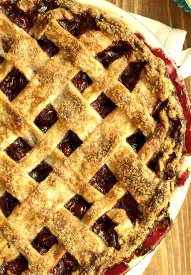 Lattice Topped Cherry Pie The Tough Cookie