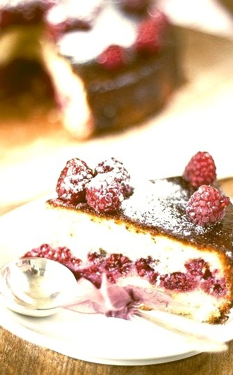 Lime cake with Raspberry by tasty_kitchen on Flickr.