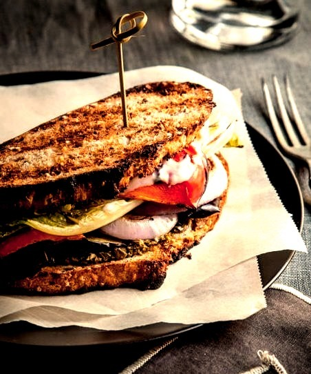 Grilled Vegetable Sandwichwith recipe (link)