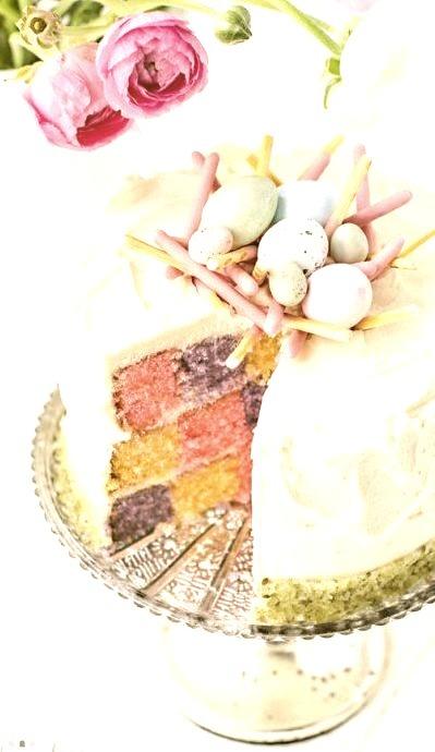 Elegant Spring Checkerboard CakeSource