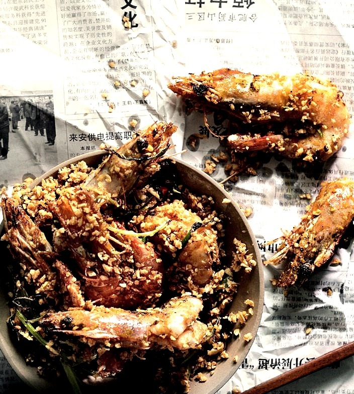 Typhoon-Shelter Garlic Shrimp