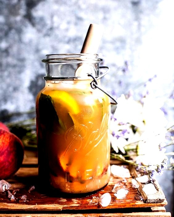 Grilled Peach and Basil Arnold Palmer